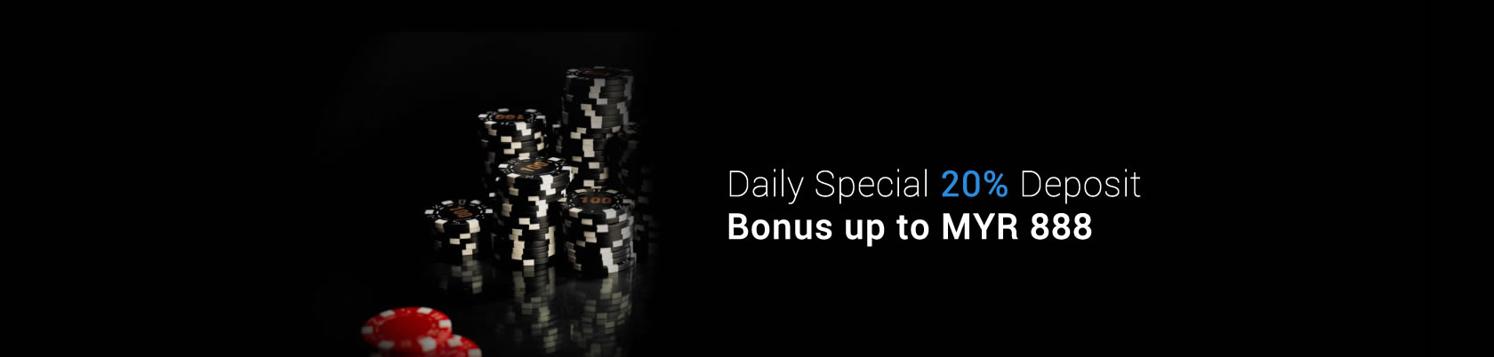 1Bet2u Daily Special 20% Deposit Bonus up to MYR 888
