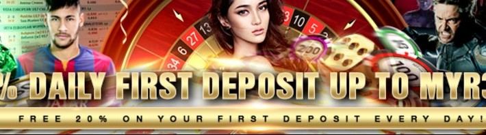 20% DAILY FIRST DEPOSIT