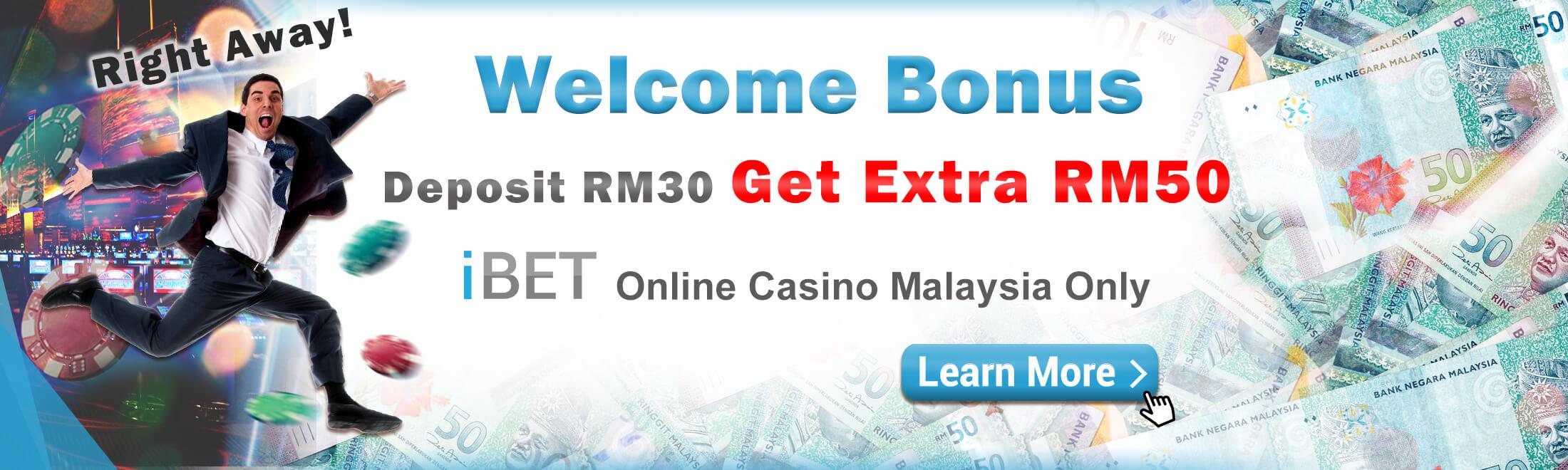 iBET Online Casino Rebate Deposit Promotion 30 Free 50