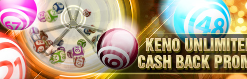 [S188 Malaysia] KENO Unlimited 0.8% Cash Back Promotion
