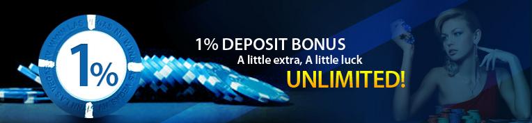 [9Club Malaysia] Daily 1% Deposit Bonus