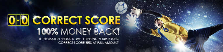 [9Club Malaysia] Correct Score 0-0, 100% Money Back