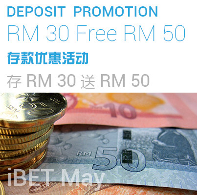 [iBET Malaysia] Free RM50 Deposit Promotion!!