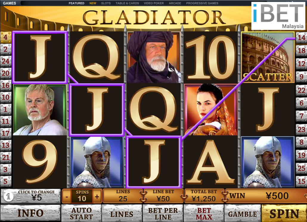 Newtown Casino Gladiator Slot Game Malaysia 2
