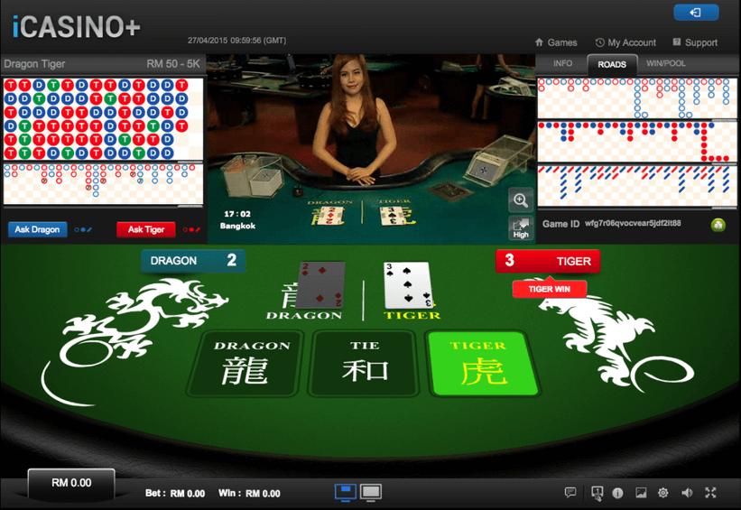 Live Casino HoGaming Dragon & Tiger Malaysia