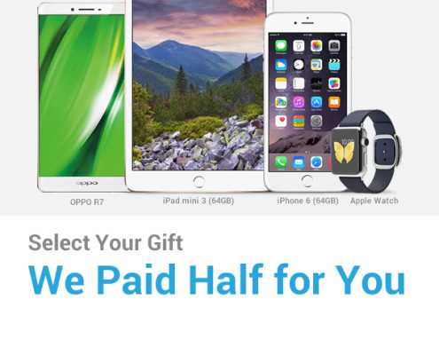 Select Your Gift We Paid Half For You