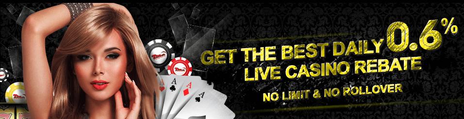 7LIVEASIA Online Casino Daily 0.6% Live Casino Rebate Malaysia