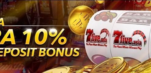 7liveasia Online Casino Malaysia 10 Slot Deposit Bonus