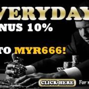 MBA66 Online Casino Malaysia Promotion 10% Bonus