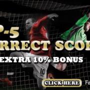 MBA66 Online CasinoUP-5 CORRECT SCORE BONU.