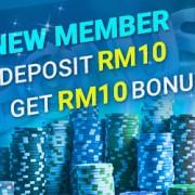 iBET Malaysia Online Casino Welcome Bonus Deposit RM10 Free RM10