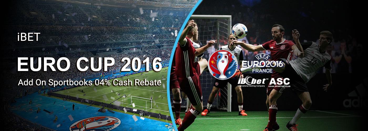 iBET Online Casino Sportbooks Rebate Bonus of UEFA EURO