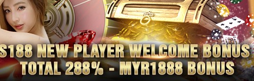 S188 Online Casino New Player Welcome Bonus Up To 288%