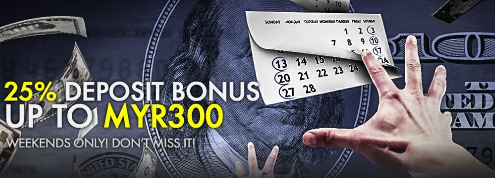 9club Casino Malaysia Weekends 25% Deposit Bonus