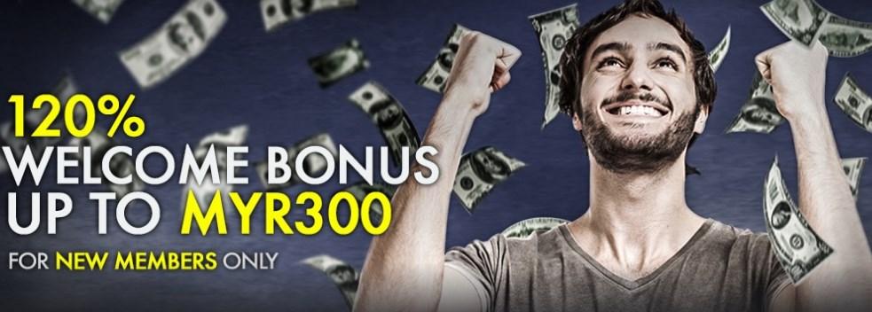 9club Online Casino Malaysia 120% Welcome Bonus