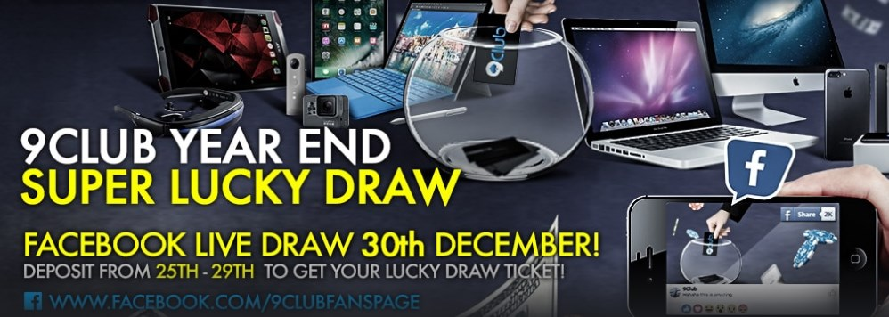 9club Online Casino FB Live Year End Lucky Draw