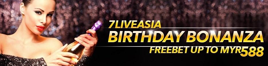 7liveasia Online Casino Birthday Bonanza Freebet