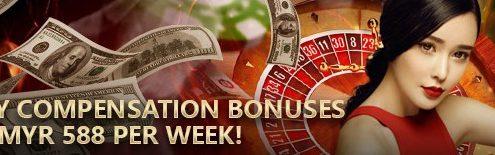 S188 Casino Online Weekly Compensation Bonuses