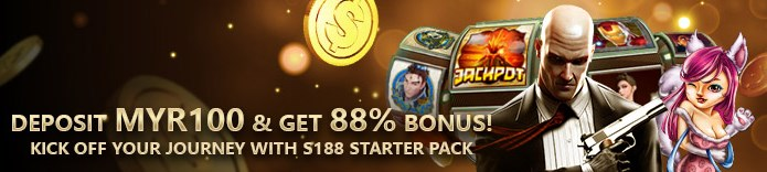 S188 Casino Deposit Myr100 And Get 88% Bonus