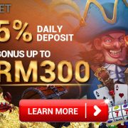 Daily Deposit Bonus Up To MYR300 in iBET Online Casino