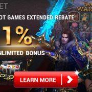 [iBET Malaysia]Slot Games Rebate Bonus 1%