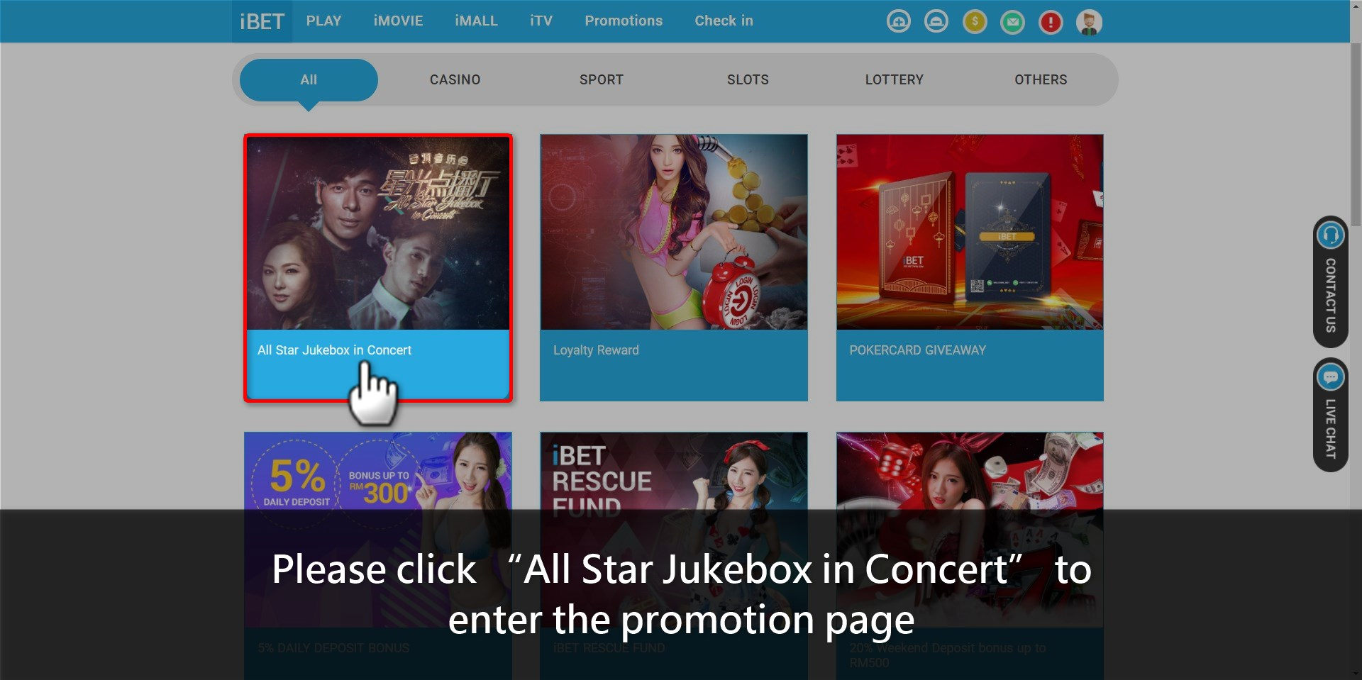 Teach you how to claim iBET All Star Jukebox
